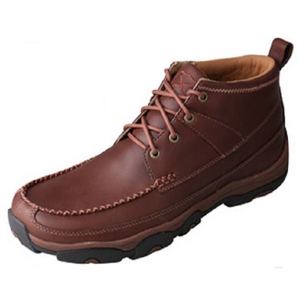 Twisted X Outdoor Boots Mens Hiker Lace Up Rubber Brown