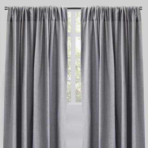 "Rodeo Home Rod Pocket Saint Linen Curtain Panels (Set of 2) - 54"" x 96"" - 54"" x 96"""
