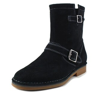 Hush Puppies Aydin Catelyn Women Round Toe Suede Black Mid Calf Boot