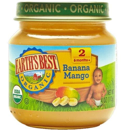 Earth's Best - Organic Banana Mango Blends ( 12 - 4 OZ)
