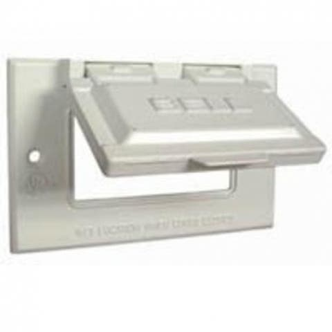 Bell 5101-6 Weatherproof GFCI Outlet Cover, 1 Gang , White