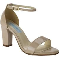 Dyeables Women's Maddox Ankle Strap Sandal Nude Patent