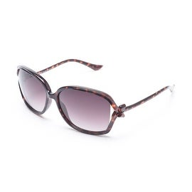 Moschino Women's Bow Detailed Oversized Sunglasses Tortoise - Small