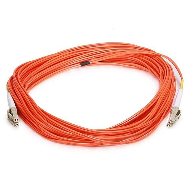 Monoprice Fiber Optic Cable - LC to LC, OM1, 62.5/125 Type, Multi Mode, Duplex, Orange, 10m