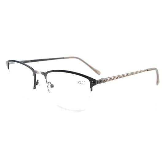 481a9d51cb71 Eyekepper Quality Spring Hinges Brushed Metal Frame Half-rim Eyeglasses  Rx-able Anti Silver+0.5