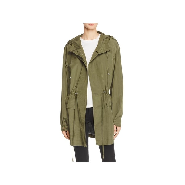 46a19771ec Shop Theory Womens Anorak Jacket Hooded Midi - Free Shipping Today ...