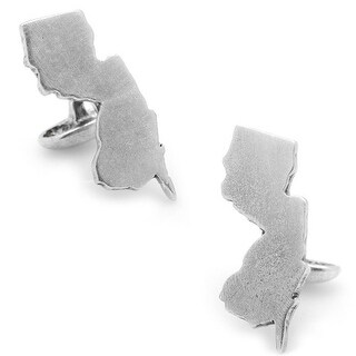 Solid Pewter State of New Jersey Map Cufflinks