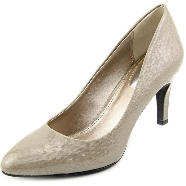Alfani Tramby Women Round Toe Synthetic Gray Heels
