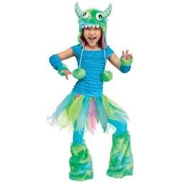 Toddler Blue Beastie Cute Monster Halloween Costume - 24 months-2t