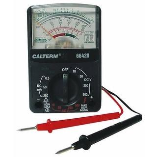 Calterm 66420 12 Range Analog Multimeter, 500 V