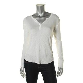 PJ Salvage Womens Modal Blend Long Sleeves Henley Top - M