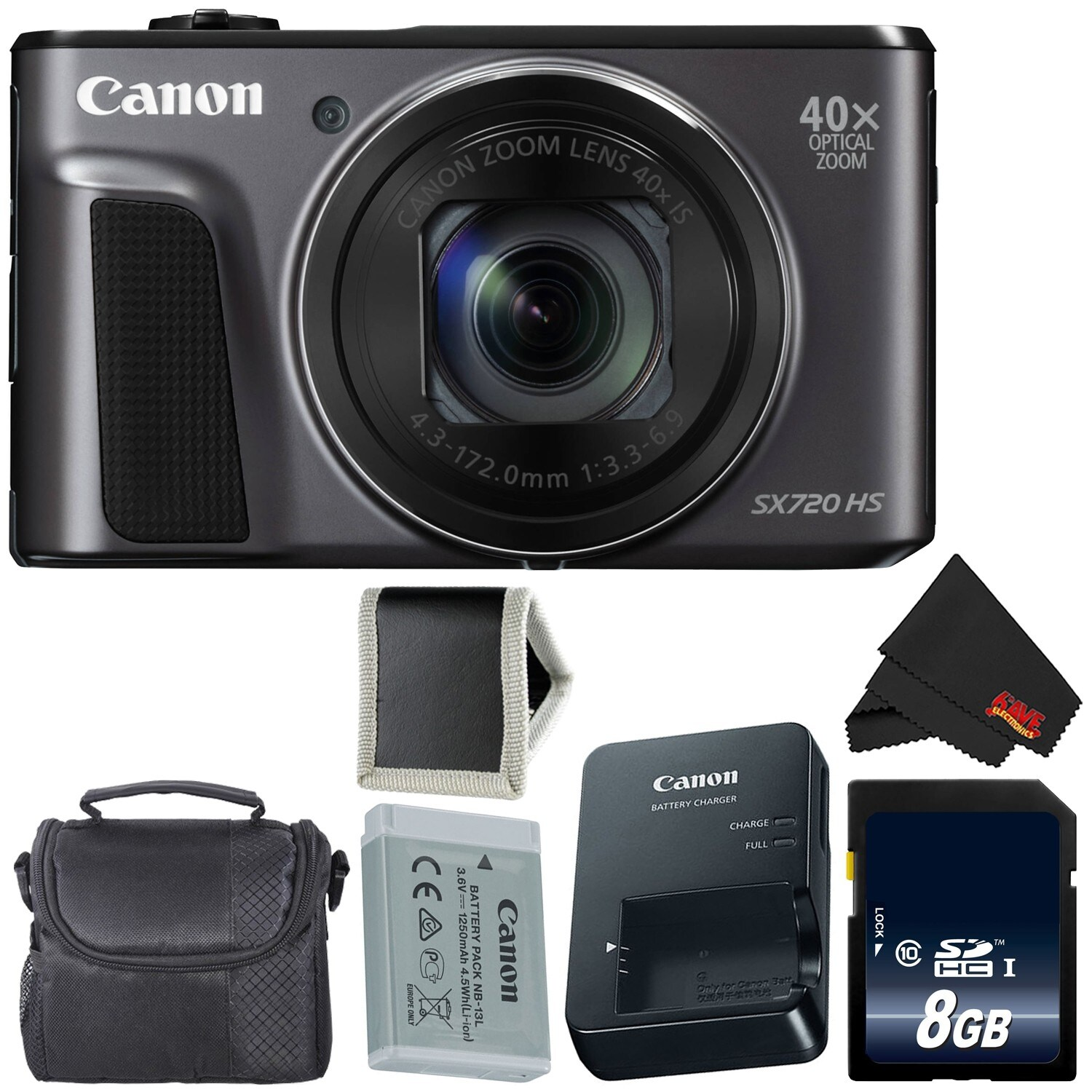 Canon PowerShot SX720 HS Digital Camera Bundle (essential)