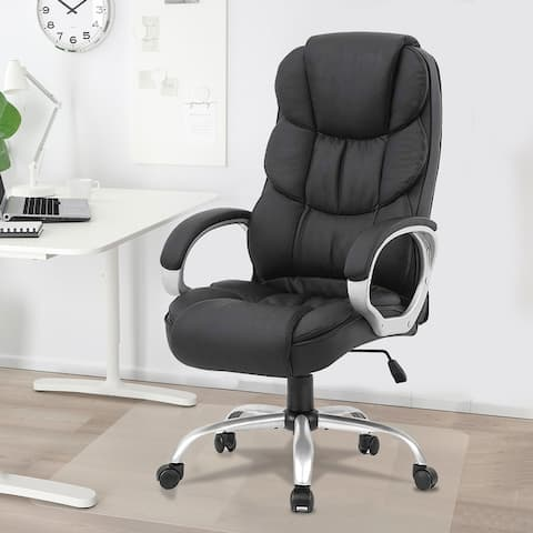 "Leather Executive Chair Professional Office Comfortable Chair - 30.3"" x 26.2"" x 44.1"""