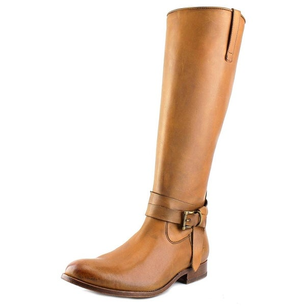 Frye Melissa Knotted Tall Round Toe Leather Knee High Boot