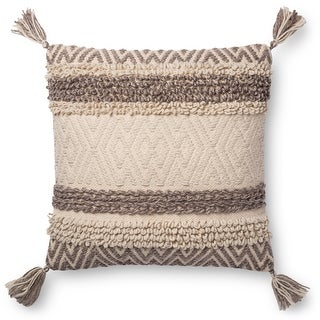 Link to Alexander Home Dawson Chervon/ Stripe Textured Throw Pillow Similar Items in Decorative Accessories