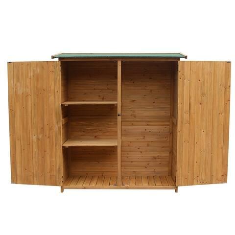 Fir Wood Shed Garden Storage Shed Wood Color & Green