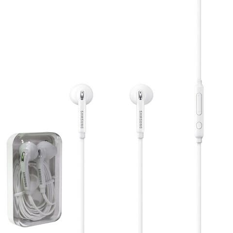 2 Pack - Samsung Galaxy Note 5 HD Earphones w/Mic-Volume Control - White - 4 x 2 x 2