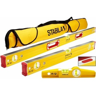 "Stabila 96M Magnetic Level Set Kit with 48""/24"" Levels Bundle"