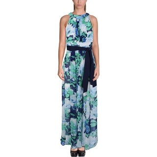Vince Camuto Womens Maxi Dress Pleated Floral Print - 2