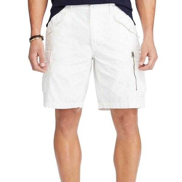 848221464 Shop Polo Ralph Lauren Classic Fit Flat Front Cargo Shorts 38 Waist White  9.5