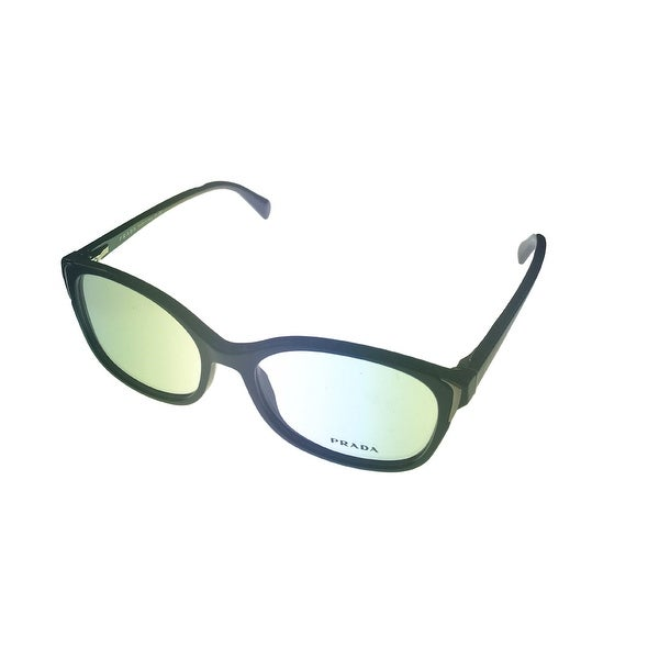 Prada Unisex Opthalmic Eyeglass Frame Modified Square Black Rectangle Plastic VPR13N - Medium
