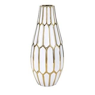 IMAX Home 14797  Flynn Large Ceramic Vase - White