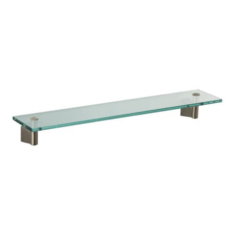 "Gatco GC4736 17-1/4"" Glass Shelf from the Bleu Series - Satin Nickel"