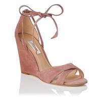 L.K. Bennett Womens henrietta Suede Open Toe Special Occasion Platform Sandals