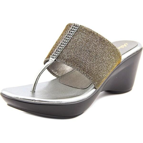 Athena Alexander Reece Open Toe Canvas Wedge Sandal