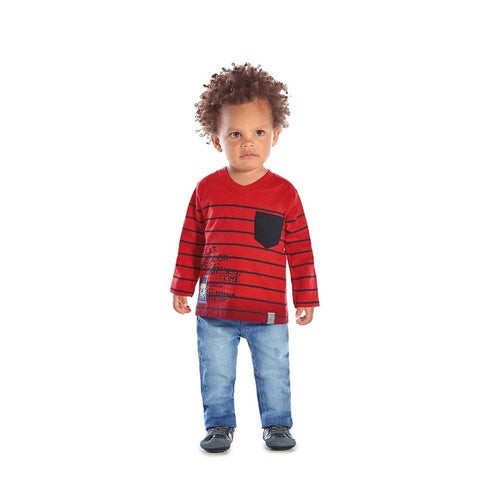 Baby Boy Long Sleeve T-Shirt Striped Tee Infant Clothes Pulla Bulla 3-12 Months