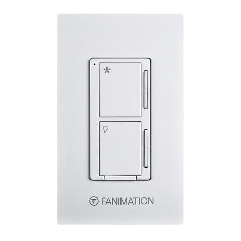 Wall Control - Fan 3 Speeds and Dimming Light - White