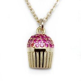 Julieta Jewelry Cupcake Charm Necklace