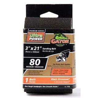 "Gator 7776 Sanding Belts 3""x21"", 80 Grit"