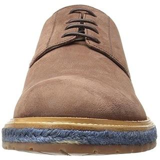A. Testoni Mens Leather Contrast Trim Oxfords