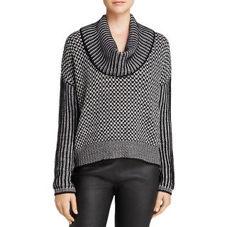 Aqua Womens Pullover Sweater Cable Knit Cowl Neck