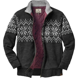 Legendary Whitetails Mens First Frost Quilted Sweater - charcoal heather