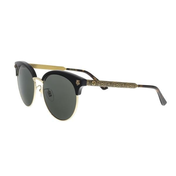 4e8e4cbce1960 Shop GUCCI GG0222SK 001 Black Gold Cateye Sunglasses - Free Shipping ...