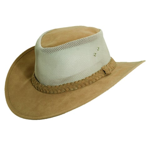 Dorfman Pacific Men's Water Soaker UPF 50+ Mesh Sides Safari Hat