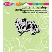 "Penned Birthday - Stampendous Cling Stamp 3.5""X4"""