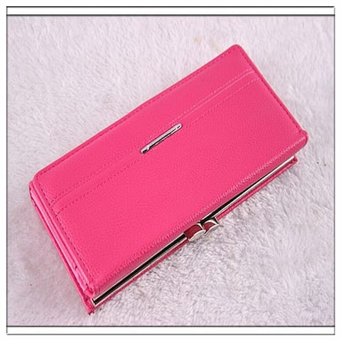 New Fashion Women Wallets Tri-Fold Long Design Female's Retro Purse Clutch Bag Card Package Pidengbao Money Clip