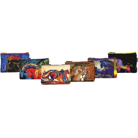 "Cosmetic Bag Zipper Top Assortment 9""X1""X6""-Horse Designs"