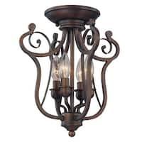 Millennium Lighting 1144 Chateau 4-Light Semi-Flush Ceiling Fixture - Rubbed Bronze - N/A