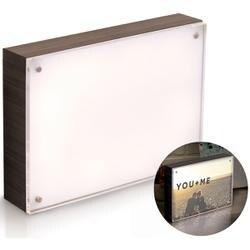 """Ebony - We R PhotoLights Backlit Wood Finish W/Acrylic Frame 5""""X7"""""""