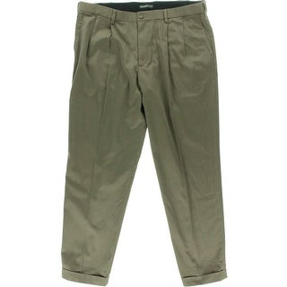 Dockers Mens Khaki Pants Relaxed Fit Pleated