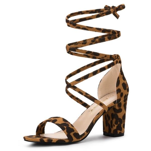 Women's One Strap Block Heel Lace Up