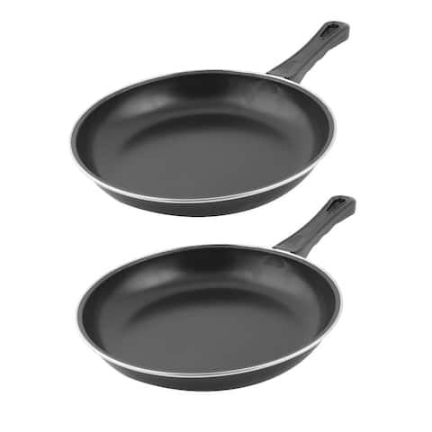 Home Kitchenware Aluminium Alloy Cooking Egg Pancake Frying Pan 15.9 Inches Length 2pcs