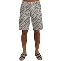 Dolce & Gabbana Dolce & Gabbana White Black Striped Casual Shorts
