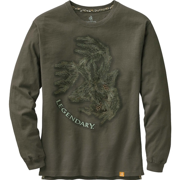 Legendary Whitetails Men's Signature Series Long Sleeve T-Shirt - Olive