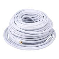 Monoprice 100ft RG6 (18AWG) 75Ohm, Quad Shield, CL2 Coaxial Cable with F Type Connector - White