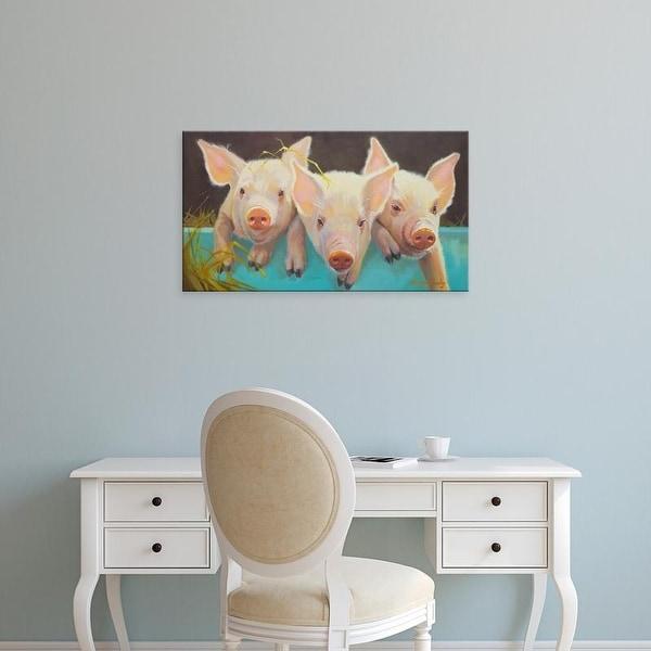 Easy Art Prints Carolyne Hawley's 'Life as a Pig I' Premium Canvas Art